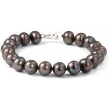 Náramek Klenota perlový z černých perel sl034