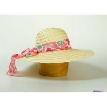Karpet Dámský slaměný klobouk zdobený šátkem originál 2711 c347cab7a6