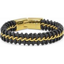 Trendhim černo-zlatý náramek Coil Z0-7-11496