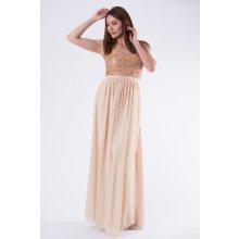 5d7e5b53643c Eva   Lola dámské společenské a plesové šaty bez ramínek zlatá