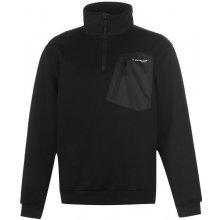 Dunlop Knitted Quarter Zip Top Mens Black
