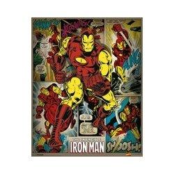 Posters Marvel Comics Iron Man Retro Plakát Obraz