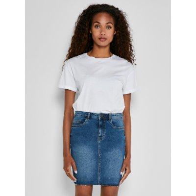 Noisy May Callie džínová pouzdrová mini sukně modrá
