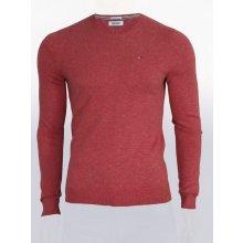 18231fbeab7 Tommy Hilfiger Pánský červený svetr Tommy Hilfiger Denim