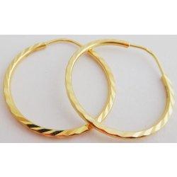 b50837fc1 Náušnice Gravírované velké zlaté kruhy 1131423