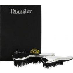 Detangler Miraculous Set Silver kartáč na rozčesávání vlasů s rukojetí  stříbrný dárková sada 3039a3bfe8