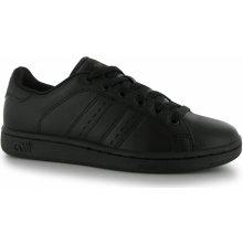 Lonsdale Leyton Leather dětské sportovní boty černé a05721fdb9
