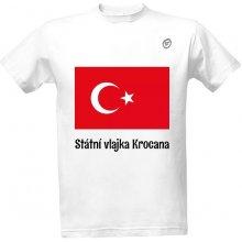 223d7f11ad9f ftipnytricko.cz tričko s potiskem Státní vlajka Krocana Bílá