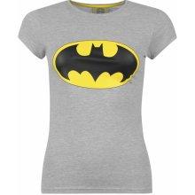 DC Comics Batman T Shirt Ladies batman dámské triko - grey
