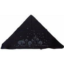 Infit Šátek Pirát trojúhelníkový dvouvrstvý černý stromy 00be8ba462