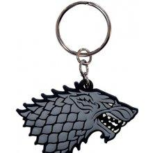 Přívěsek na klíče Game of Thrones Hra o trůny Stark 4 5 x 5 5 cm PVC [325267] CurePink
