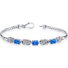 Eppi stříbrný náramek s modrými opály Halona BR32094