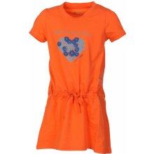 ALPINE PRO Dívčí šaty Sunko oranžové