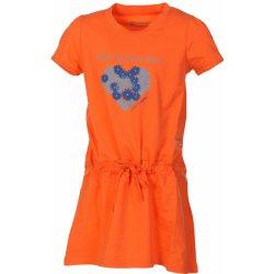c521482e0f96 ALPINE PRO Dívčí šaty Sunko oranžové od 159 Kč - Heureka.cz
