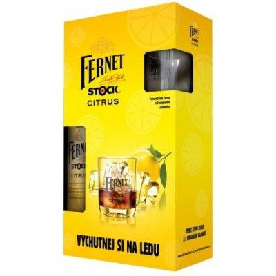 Fernet Stock CITRUS 2 x SKLO 27% 0,5 l
