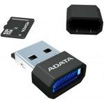 ADATA microSDHC 8GB class 4 + USB čtečka AUSDH8GCL4-RM3BKBL