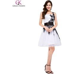 2102c1f9679 Grace Karin společenské šaty krátké CL4288-1 bílá