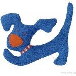 Efie Modrý pejsek BIO bavlna mazlíček s chrastítkem