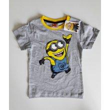 Disney tričko Mimoni krátký rukáv šedé