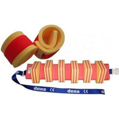Plavecký pás 1300 + nadlehčovací rukávky > varianta Žlutá-Červená s pruhem