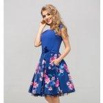 Šaty s květy - modré - Vyhledávání na Heureka.cz 5ba0aa3df5