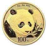 Panda 2018 Zlatá mince 8 g