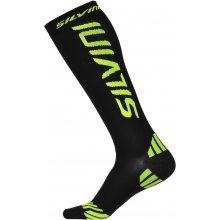 Silvini kompresní ponožky CASALONE UA562 black-reflecive yellow