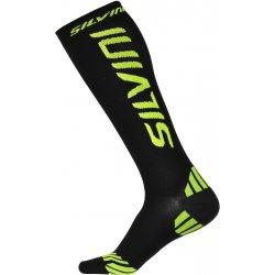 Silvini kompresní ponožky CASALONE UA562 black-reflecive yellow 37d654b1cb