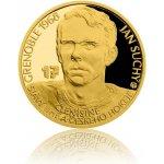 Česká mincovna Zlatá čtvrtuncová mince Legendy čs. hokeje Jan Suchý proof 7,78 g