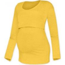 Kateřina kojící tričko dlouhý rukáv žlutooranžová