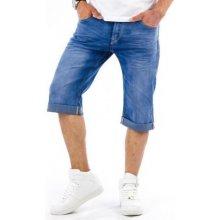 Pánské stylové riflové (džínové) kraťasy pod kolena