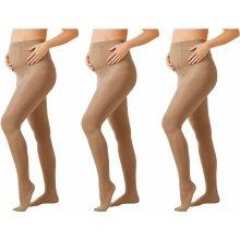 Esmara těhotenské punčochové kalhoty 3 kusy tělová 5183377c33