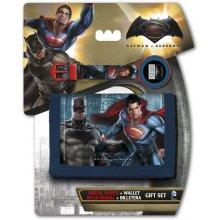 Dárková sada peněženka a hodinky Batman vs Superman