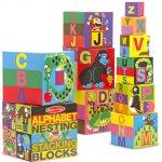 Melissa & Doug stohovací kostky Anglická abeceda