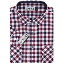 f89025fa6d38 Greed pánská košile sportovní károvaná SK364