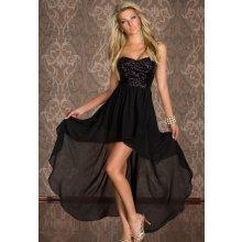 Společenské třpytivé černé šaty