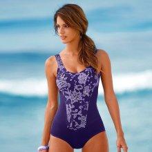 Blancheporte Jednodílné plavky s potiskem fialová/lila
