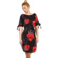Dámské květované šaty s krátkým rukávem 311524 černá da6d520605