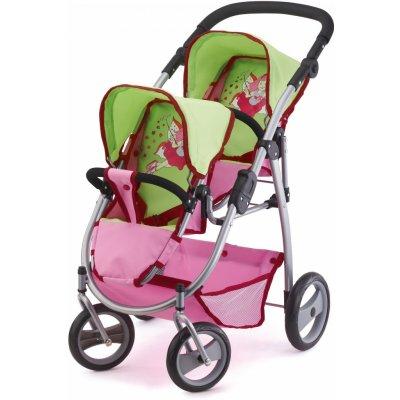 Bayer design Twin Jogger růžový/zelený