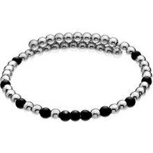 Hot Diamonds Ocelový náramek s černými korálky Emozioni Wrap DC151