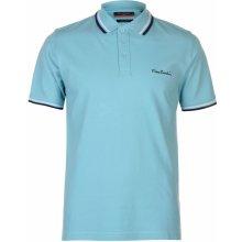 Pierre Cardin Tipped Polo Shirt Mens Mint Blue