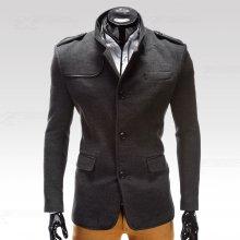 Ombre Clothing Kabát Augustino šedý