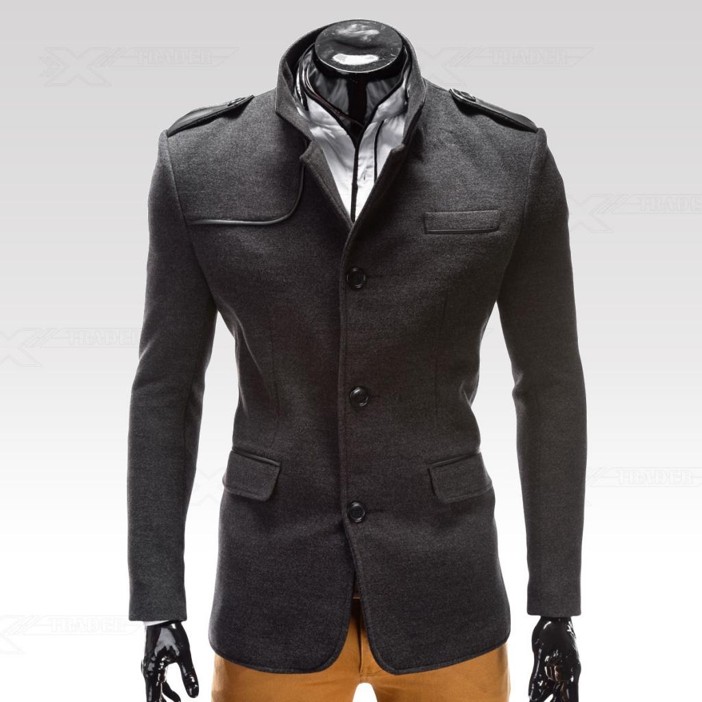 Ombre Clothing Kabát Augustino šedý 0492afd628f