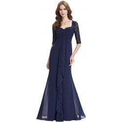 Grace Karin   Kate Kasin společenské šaty s krajkovými rukávy KK000136-1  modrá 9f560c6b01