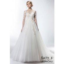 923ab94a015 Helen Fontaine svatební tylové šaty s dlouhými rukávy zdobené korálky  HFW2744