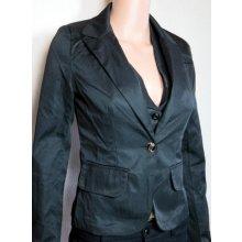 Dámské elegantní sako s knoflíčkem černé
