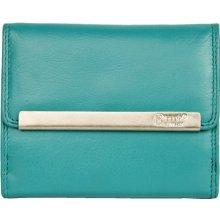 tyrkysová kvalitní kožená peněženka HMT kompaktní