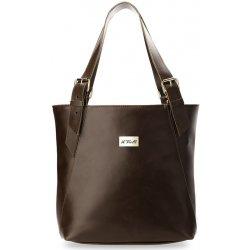 7f6edecceb98 stylová dámská kabelka shopper bag ke každodennímu nošení hnědá od ...