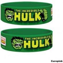 Náramek silikonový Hulk Marvel zelený šířka WR67162 CurePink