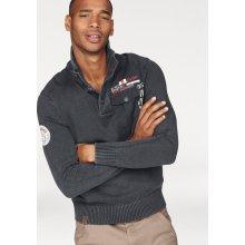 Rhode Island Pletený pulovr, námořnická modř-washed